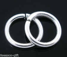 Gift Wholesale Silver Plated Open Jump Rings Findings 1.2x9mm