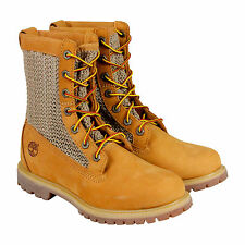 Timberland Auth Open Weave Womens Tan Nubuck Casual Dress Boots Shoes