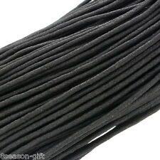 Gift Wholesale Wholesale Black Waxed Cotton Necklace Cord 2mm