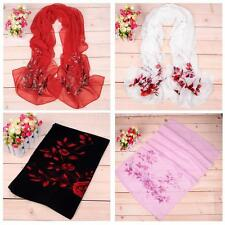 New Fashion Dot Girls Women Long Soft Wrap Lady Shawl Silk Chiffon Scarf H6X2
