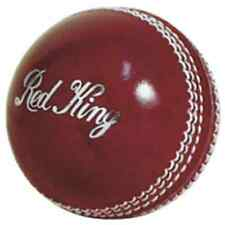 KOOKABURRA RED KING CRICKET BALL - RED - 146G / 156G - QUALITY LEATHER