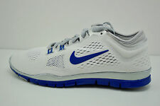 Womens Nike Free 5.0 TR FIT 4 Running Shoes Size 11 White Blue Grey 642069 104