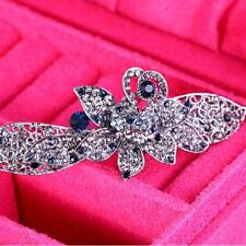 1 Brooch Pin Butterfly Alloy Silver Flower Rhinestone Bridal Crystal Jewelry