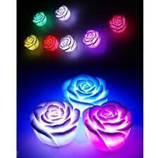 Changing Color Rose Flower LED Light Night Candle Lamp Romantic Party Decor Gift