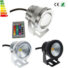 IP68 5W/10W LED RGB Underwater Light Fountain Pond Outdoor Spotlight Lamp12V