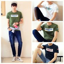 Cool Men's Short Sleeve Round Neck Breathable T-Shirts Casual Tops Blouse S-3XL