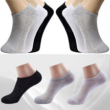 6/12pairs Men Women Crew Ankle Cut Sports Socks Black White Gray New Plain Socks
