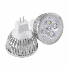 Super Bright MR16 12W LED Spotlight 4x3W Bulb Warm Cool White Lamp 12V AC/DC