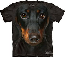 Dachshund Dog Face The Mountain Adult Size T-Shirt