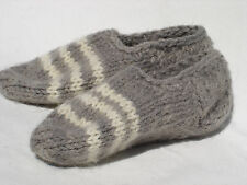 "Hand Knitted 100% Wool Socks SLIPPERS For Baby Girl or Boy (~6""long) #VB"
