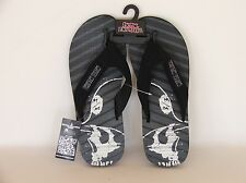 "METAL MULISHA ""BARRICADE"" THONGS, FLIP FLOPS, SANDALS. USA 8 or 9 BNWT"