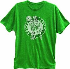 Adult Mens Green Boston Celtics Primary Basketball Green Logo T-Shirt Tee