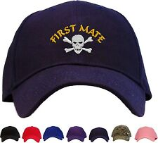 Pirate First Mate w/ Skull Embroidered Baseball Cap - Available 7 Colors - Hat