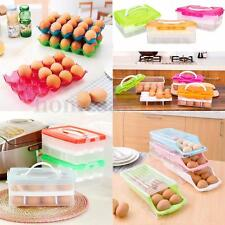 15/24 Eggs Holder Double Layer Plastic Refrigerator Storage Box Case Container