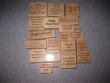 Your Choice One Rubber Stamp-Preowned-Stampin' Up!-words,phrases,verses-variety