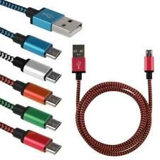 Micro USB Data Sync Charger Cable Braided For Android Phone Tablet Wholesale Lot