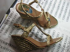 NIB NEW Mia Tiffany Womens Open Toe Textile Wedge Sandals Shoes