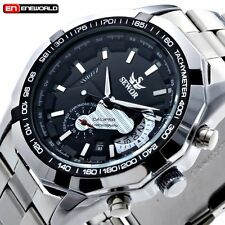 Mens Self-Winding Date Automatic Mechanical Stainless Steel Sport Wrist Watch