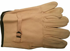 Cowhide Driver Gloves with LEATHER Pull Strap Sold by the Dozen