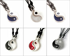 Ying Yang-4 Silver Pewter Charm Necklace Pendant Jewelry