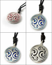 Ying Yang Feng Shui-2 Silver Pewter Charm Necklace Pendant Jewelry