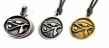 Egyptian Eye of Ra Horus 92.5 Silver, Pewter Gold Brass Necklace Pendant Jewelry