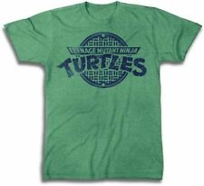 New Authentic Mens Teenage Mutant Ninja Turtles Logo Tee Shirt in Green Heather