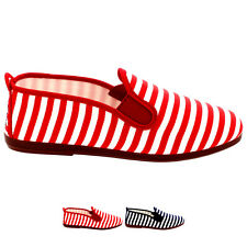 Ladies Flossy Corella Summer Flat Canvas Holiday Casual Plimsolls Shoe All Sizes