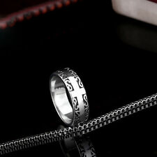 Fine Mens Jewelry Cross 316L Stainless Steel Band Ring HB205 Sz 7-13
