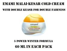 NEW EMAMI MALAI-KESAR COLD CREAM WITH DOUBLE KESAR FOR DOUBLE FAIRNESS (60 ML)