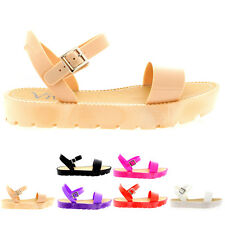 Ladies Flatform Wedge Heel Summer Festival Ankle Strap Platform Sandal All sizes