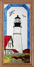 "Silver Creek Maine Portland Head Lighthouse ~ 11.5"" x 22.5"" Suncatcher"