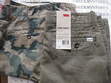 NWT  MEN'S LEVI'S LEVIS  CHINO MENS CASUAL COTTON SHORT MANY SIZES COLORS AVA