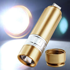 700LM USB Rechargeable LED Light Flashlight Lamp Keychain Pocket Mini Torch