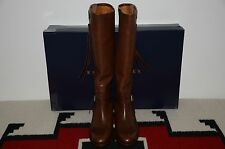 Ralph Lauren Collection Purple Label Equestrian Leather Tall Riding Boots