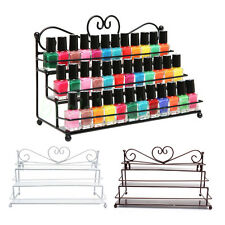 Nail Polish Rack Organizer 3 Tier Heart Metal Wall Mounted Stand Holder Display
