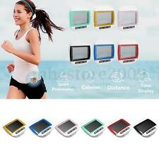 LCD Digital Step Pedometer Walking Calorie Counter Distance Fitness Belt Clip