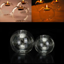Romantic Crystal Glass Candle Candlestick Halloween Holder Party Christmas Decor
