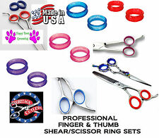 RUBBER Finger&Thumb Ring Size Sizing Insert SET for Pet Grooming Shears Scissors
