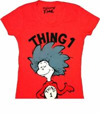 Youth Toddlers Red TV Show Book Dr. Seuss Cat in the Hat Thing 1 T-shirt Tee