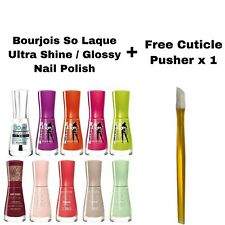 BOURJOIS SO LAQUE ULTRA SHINE / GLOSSY NAIL POLISH BRAND NEW **CHOOSE SHADE**