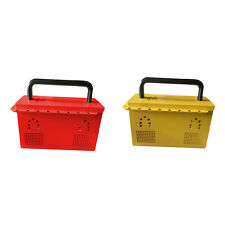 MILE Industrial Safety Group Lockout Box with 20 padlock eyelets