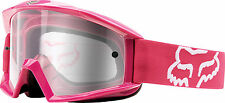 NEW FOX RACING MAIN OFFROAD MOTOCROSS MX ADULT GOGGLES HOT PINK/CLEAR
