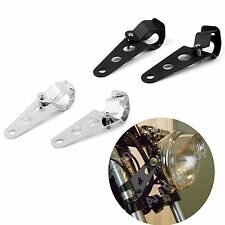 28-38mm Billet Aluminum Headlight Fork Mounting Brackets For Norton BSA Ducati