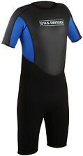 U.S. US DIVERS MENS SHORTY NEOPRENE WETSUIT SURFING / SNORKEL / SWIM / DIVING