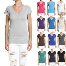 MOGAN S~3X V-Neck POCKET SHORT SLEEVE TEE - Casual Basic Solid T-shirts