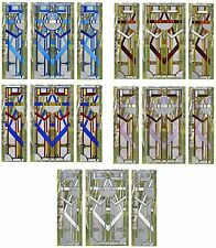 Silver Creek 3 Panel Art Deco Large Window Art Glass Suncatcher Package~5 Colors