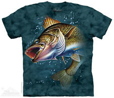 Walleye Fish The Mountain Adult Size T-Shirt