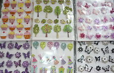 craft stick on stickers embellishments flowers trees cakes bouquets cupcakes
