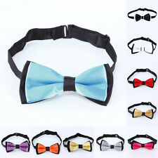 10 Colours Solid Bowtie Wedding Party Bow Tie For Baby Toddler Boys Girls
